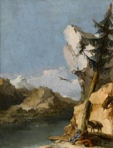 Giambattista Tiepolo, Ruhe auf der Flucht nach Ägypten, zw. 1762-1770, Öl auf Leinwand, Staatsgalerie Stuttgart